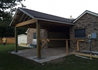 Echevarria - framing and roof complete right elevation (2)