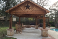 Boone Feestanding Cedar Pavilion Front View