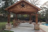 Boone Feestanding Cedar Pavilion Front View