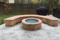 Boone Flagstone Firepit with curved bench