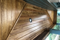 wood ceiling patio