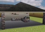 digital rendering patio design