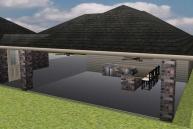 rendered patio design