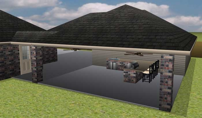 rendered patio design