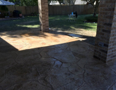 Echevarria - Stamped Overlay and Brick Columns