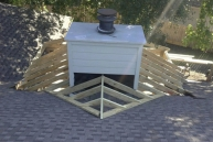 progress of the roof