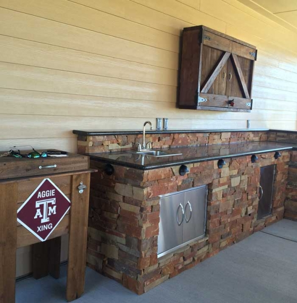 wood outdoor kitchen ipe lankfordoutdoorkitchen2 outdoor kitchens houston texas 2818655920