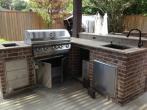 beautiful patio kitchen