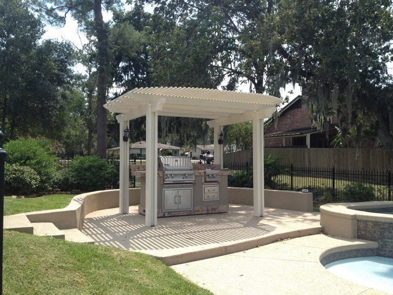 Pergolas houston texas 281 865 5920 Outdoor kitchen cost estimator