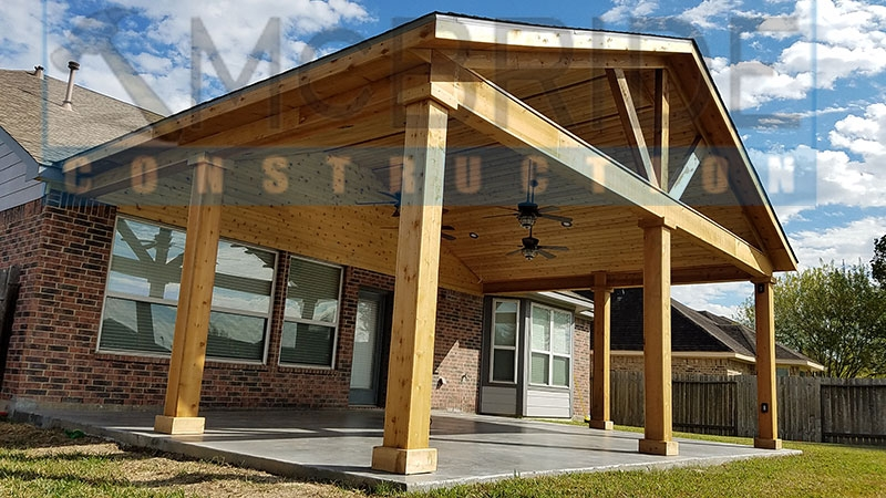 High Quality Popiak Cedar Gable Patio Cover Project