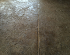 Roxanne Stamped Concrete up close - old granite