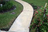 concrete walkway texas