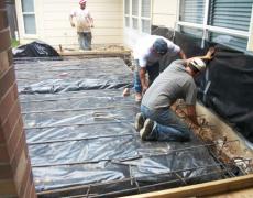 stone-patio-making