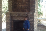 Fireplace with Jacob