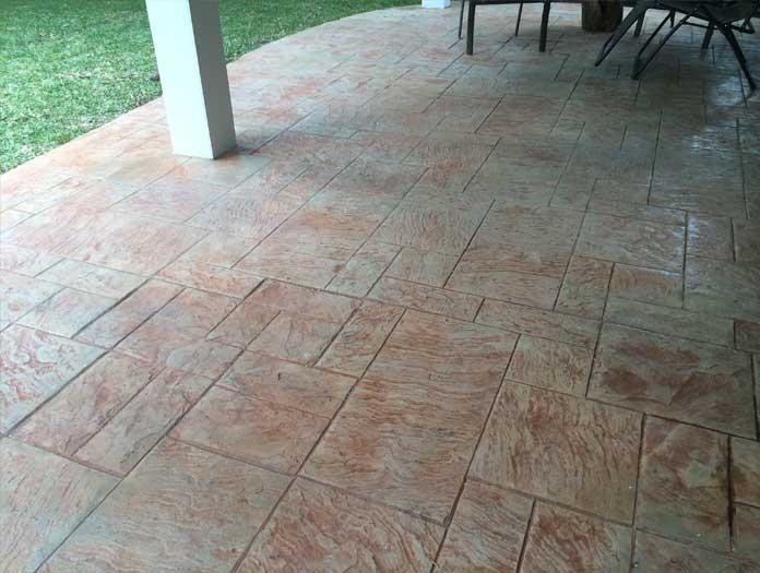 Stamped Concrete Siding : Zastoupil exterior remodeling