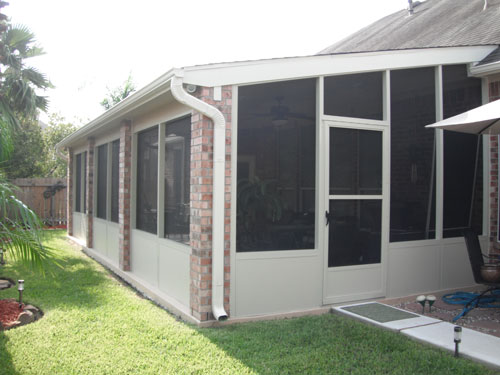 Screened in patio in houston tx for Porches prices