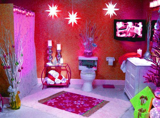 christmas bathroom