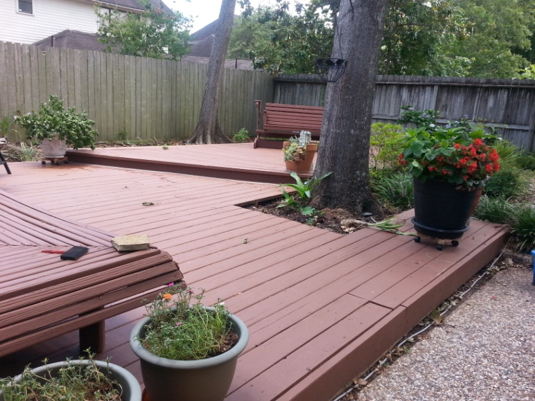 beautiful houston deck