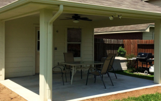 Wood Framed Patio Cover Houston TX