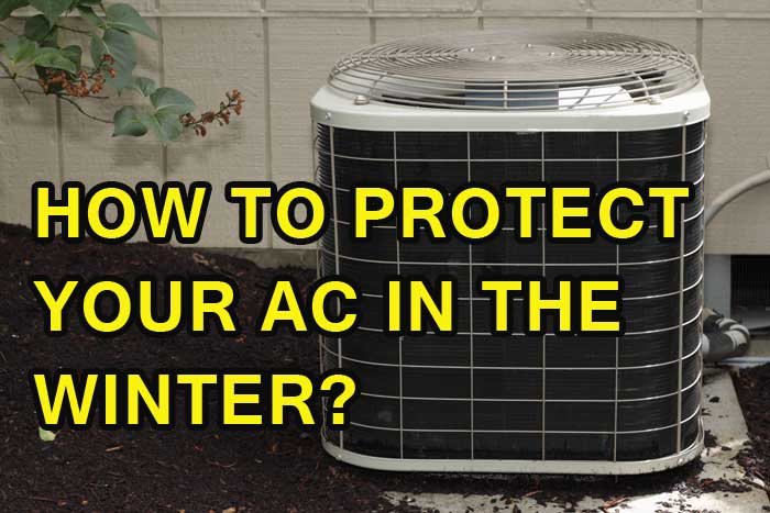 how to protect your AC in the winter
