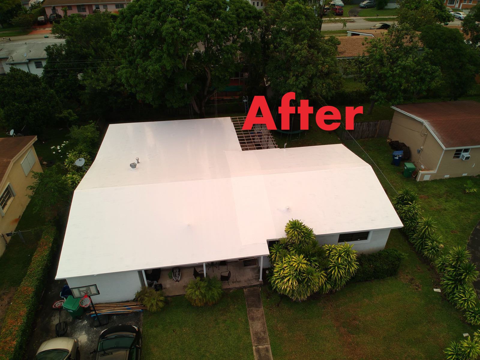 wrap roof after