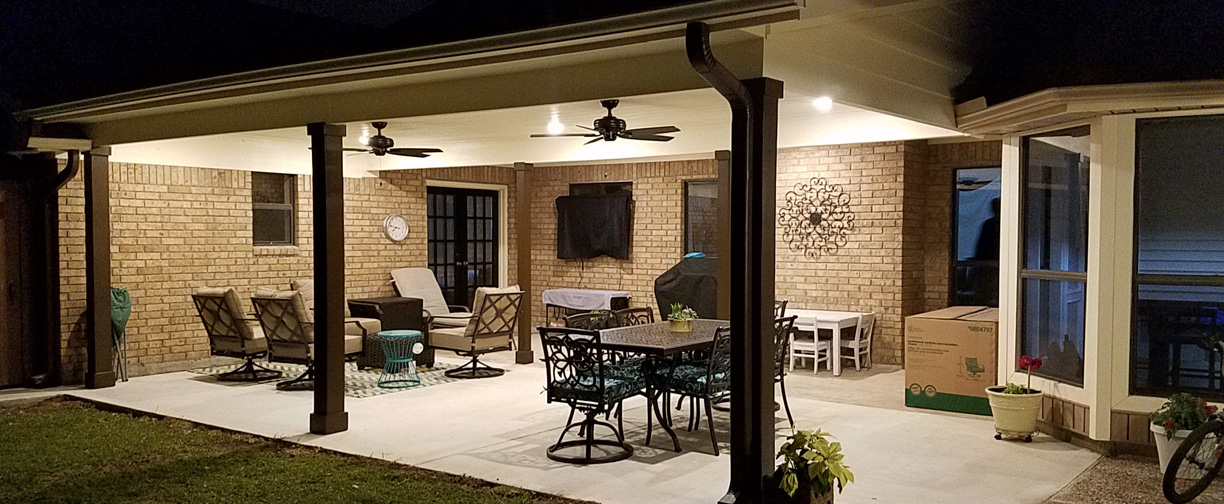 Patio Cover in the dark