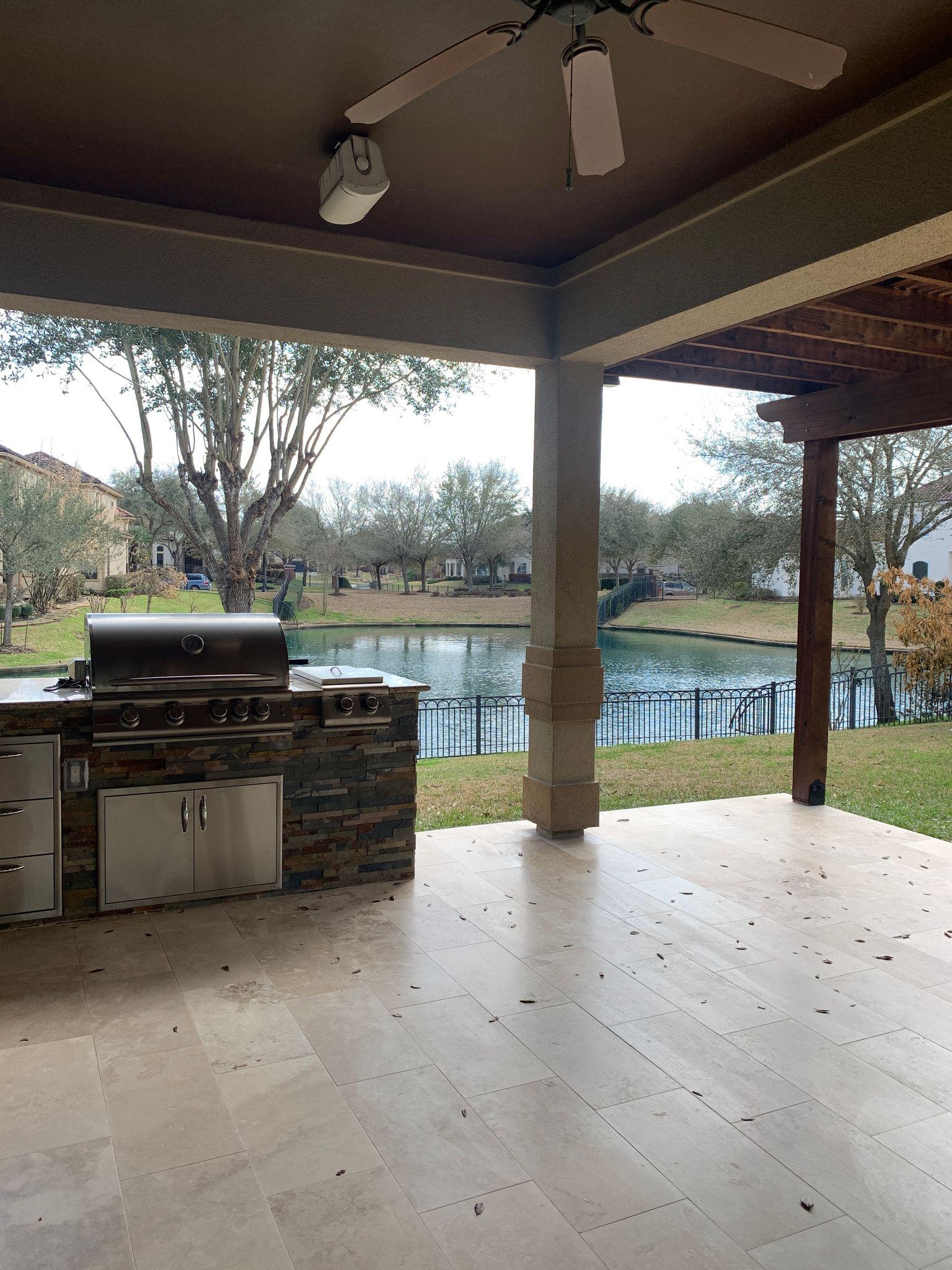 outdoor kitchen view